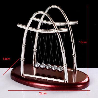 Home Cradle (Home Office Decor Newton Cradle Balance Ball Physics Science Pendulum Oval relax)