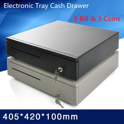 Electronic Tray Cash Drawer 5 Bill 3 Coins Storage Cash Register Tray Box Y