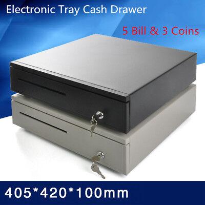 Electronic Tray Cash Drawer 5 Bill 3 Coins Storage Cash Register Tray Box Y