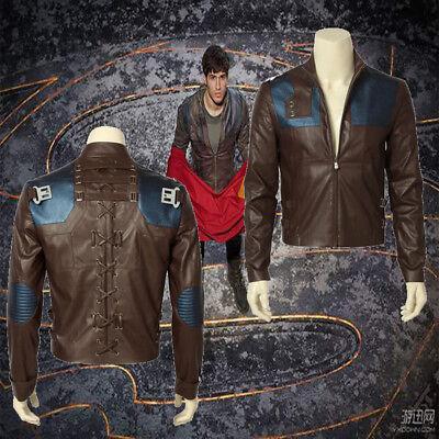 New Krypton Season1 Seg-El Cosplay Costume Jacket Superman's Grandfathe Coat Top