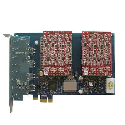 AEX800 8 FXO Asterisk card PCIe card for elastix trixbox freepbx voip pbx