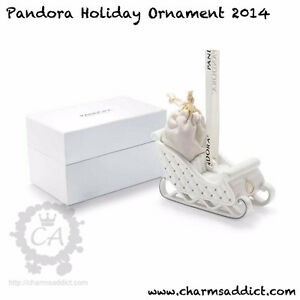 Pandora Authentic Limited Edition Porcelain Christmas Ornament