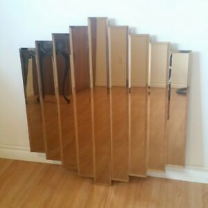 Gorgeous 9 Panel Stepped and Layered Mirror