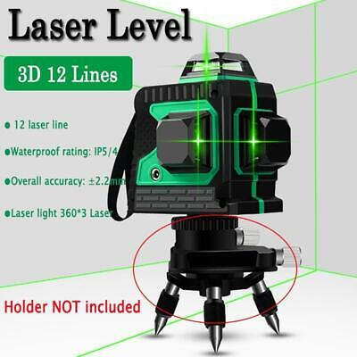 12 Line Laser Level Green Self Leveling 3d 360 Rotary Cross Horizontal Measure