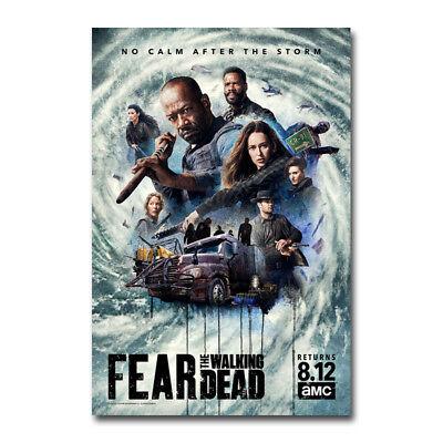 Fear The Walking Dead Season 4 Art Canvas Poster 12x18 20x30 inch
