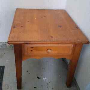 Solid wood side table  London Ontario image 1
