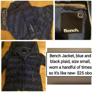 Bench jacket, Silver jeans, Leather jacket etc. All like new!
