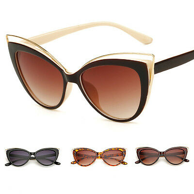 Vintage Retro Cat Eye Sunglasses Womens Fashion Eyewear Shades Eye Glasses UK