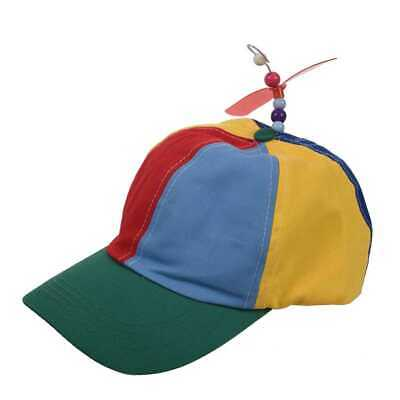 Adjustable Propeller Beanie Ball Cap Hat Multi-Color Clown Costume Accessory3P6