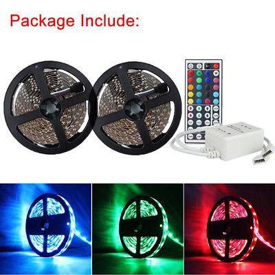 (Led Strip Lighting 2*5M 32.8 Ft 5050 RGB Flexible Color Changing Light + Remote)