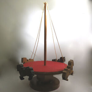 Vintage Toy Merry Go Round Hand Made Wood One of a Kind Folk Art Kitchener / Waterloo Kitchener Area image 2