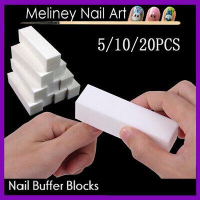 20PCS BUFFING BUFFER BLOCK FILES ACRYLIC PEDICURE SANDING NAIL ART MANICURE TIPS