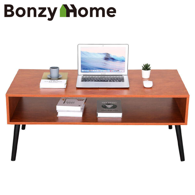 Coffee Table Computer PC Laptop Storage Shelf Workstation Living Room Furniture