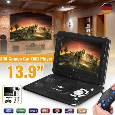 13.9-Zoll tragbarer DVD-Player 270° Tragbarer HD Monitor FM Spiel USB MP3 USB SD ()