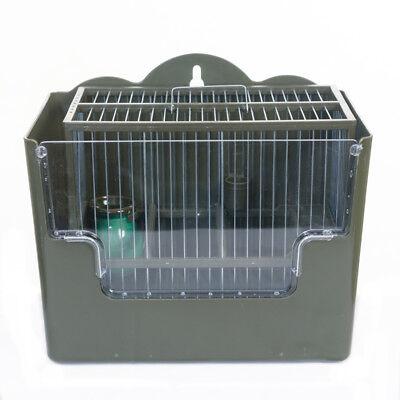 Conjunto Jaula Para Pájaros Silvestrismo Jilgueros Verde