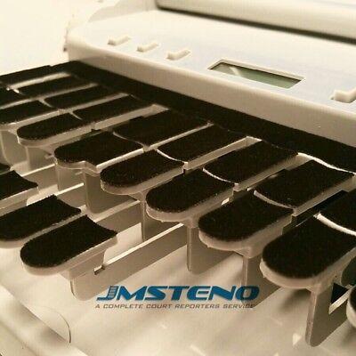 Steno Writer Black Felt Keytop Covers