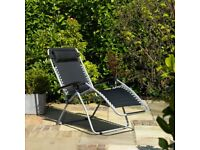 Gravity Garden Reclining Sun Chair Lounger - New + FREE Local Delivery + OFFER