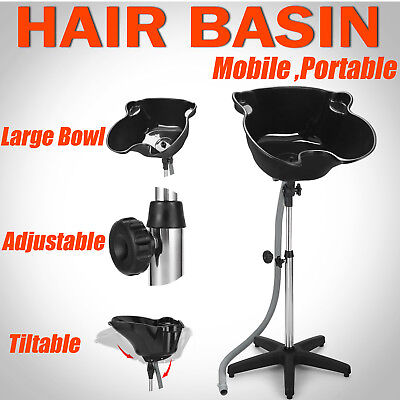 Adjustable Hairdressing Wash Hair Mobile Washing Basin Portable Salon Shampoo