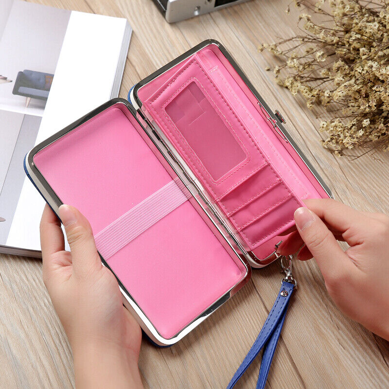 Fashion Women Clutch Wallet Long Card Holder Case Purse Cellphone Handbag US Clothing, Shoes & Accessories