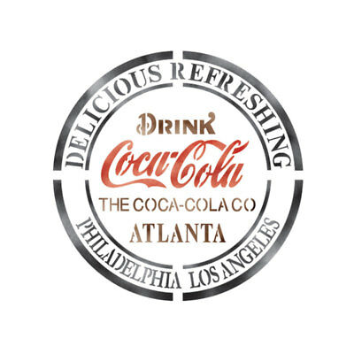 Stencils Airbrush Painting Decorative Wall Art Home Décor Cocacola Drink Atlanta