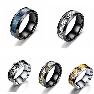 Men Jewelry Wedding Band Ring Valentine Present/Gift Stainless Steel Dragon - Valentine Ring