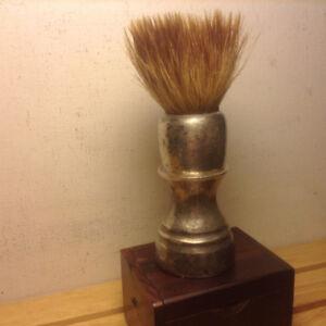Antique Victorian Sterling Silver Traveling Shaving Bru