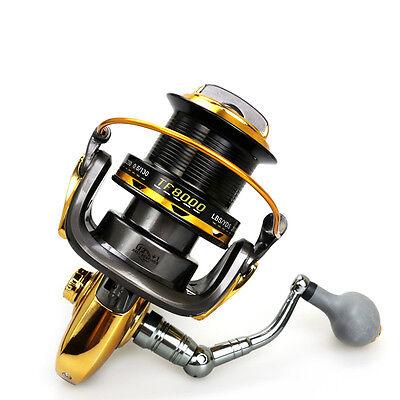 8000 12+1 BB Bearings Long Shot Spinning Reels 4.6:1 Saltwater Sea Fishing Reel