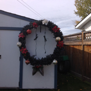 Five foot wreath for sale!
