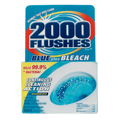 New!!! 2000 Flushes Clean Scent Automatic Toilet Bowl Cleaner 4oz Tablet (Scent Toilet Bowl)