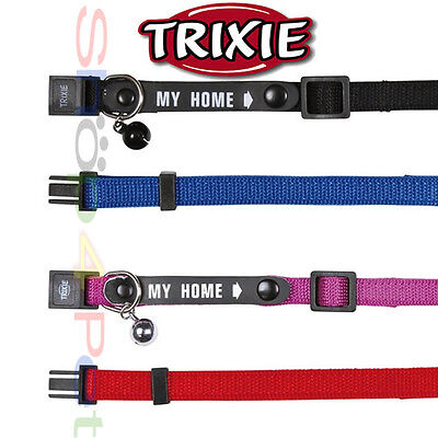 TRIXIE Cat Collar Soft Weave Nylon Facility to Write your Co