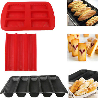 Non Stick Perforated Baguette Pan (Non-stick Perforated Baguette Pan French Bread Pan Wave Loaf Bake Bakeware)