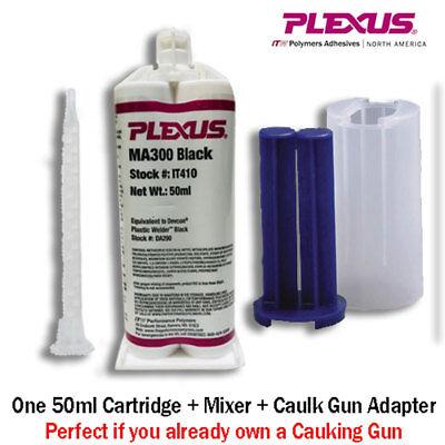 Plexus MA300 Black (IT410)  5-Min MMA Adhesive-50m+Caulk Gun Adapter