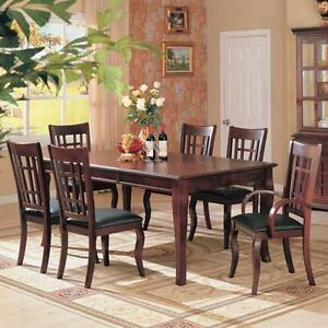 Cherry Leg Extendable Dining Room Set Available In Kamloops