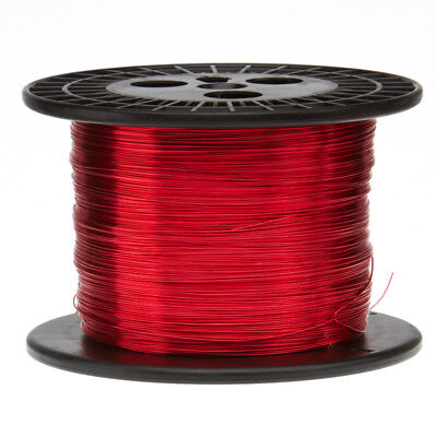16 Awg Gauge Enameled Copper Magnet Wire 10 Lbs 1261 Length 0.0520 155c Red
