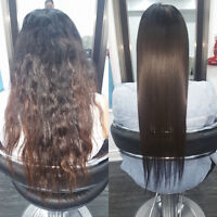 Rebonding Japanese hairs straightening in gta olaplex treatment