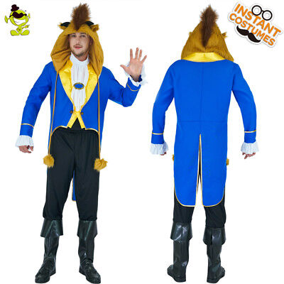 Mens Movie Character Costumes (Adult Men the Beast Costume Carnival the Movie Character Wild Beast Cosplay)