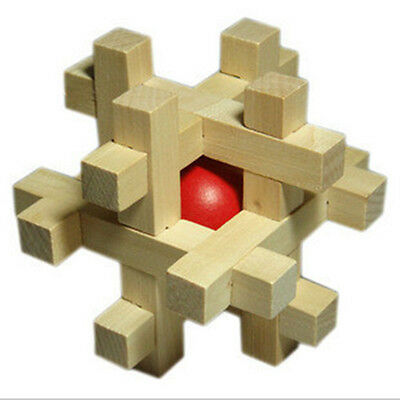Fashion Adult Puzzle Toy SnakeCube Wooden Brain Teaser Take Out the RedBall n eK