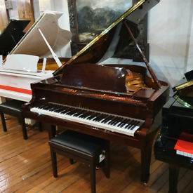 Yamaha C3 Grand Piano in Mahogany Polyester for Sale