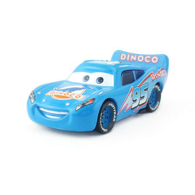 Cars Blue Dinoco Lightning McQueen Diecast Toy Car 1:55 Loose Kids Boys Vehicle - Lightning Mcqueen Kids Car