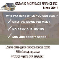 Own your Dream house today with 3% down payment !!