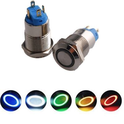 4x 12mm Latching 4 Pin Led Light Power Metal Push Button Switch Waterproof 3v6v