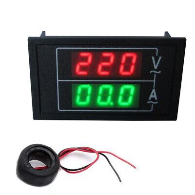 Ac110-300v 100a Digital Voltmeter Ammeter Led Amp Volt Dual Display Panel Mount