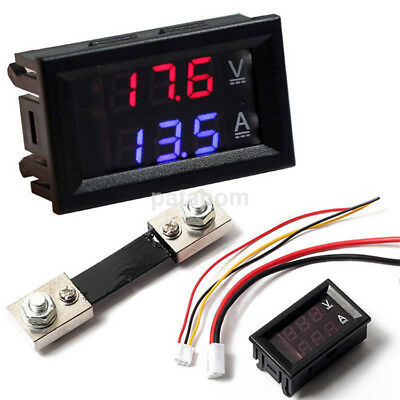 Dc 0-100v Led Dual Digital 50a100a Voltmeter Ammeter Panel Amp Volt Gauge 1pc