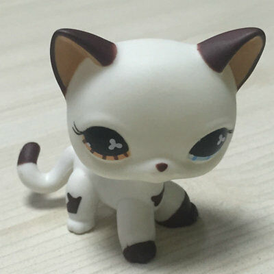 RARE Littlest Pet Shop Custom OOAK LPS Short Hair Cat White Hand Painted Figure