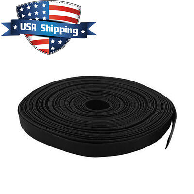316in 5mm Diameter Heat Shrink Tubing Shrinkable Tube 50ft Black 31 Ratio