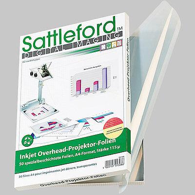 Overheadfolie: 50 Inkjet-Overhead-Folien transparent (Inkjetfolien)