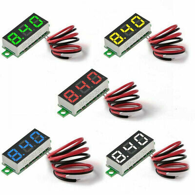 Qty -1x - Mini Digital Dc Voltmeter 0.28 Inch Two Wire 2.5v 30v Mini Digital Dc