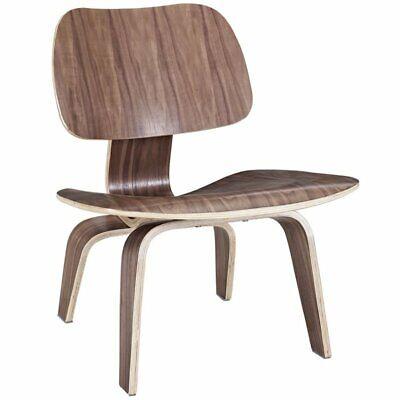 Modway Fathom Accent Chair in Walnut
