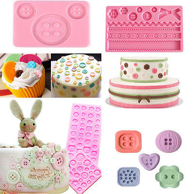 Button Mold (3D Button Silicone Fondant Mold Chocolate Cake Decorating Baking Diy Mould)