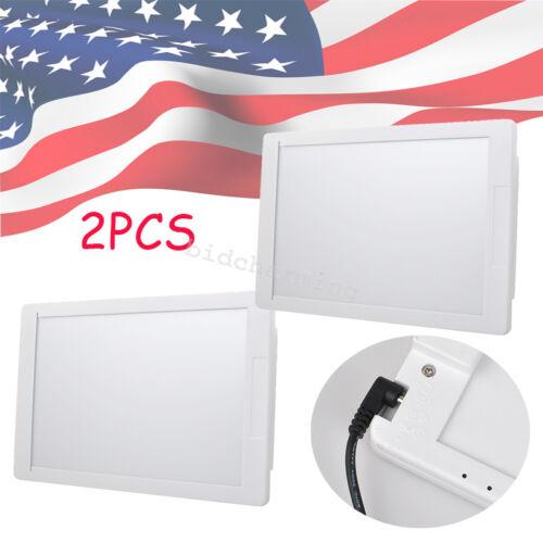 2pcs Dental X-Ray Film Illuminator Light Box Viewer light Panel A4 LED Instant